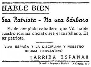 Hable bien, hable en castellano