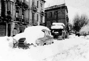 Nevada a Barcelona 1962. La Meridiana. Arxiu municipal de Barcelona