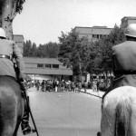 Manifestació estudiantil, Madrid 1968.