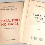 Exmplar de l'obra de tatre, Clara, però no gaire, editat el 1954