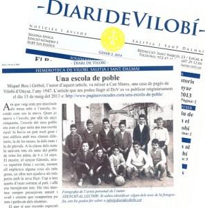 Pàgines Viscudes al Diari de Vilobí, gener 2014