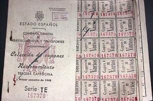 Cartilla de racionamient. España 1945