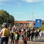 Pas de la Marxa per la LLibertat al peatge de la AP7 Girona Sud a Salt. 16 d'octubre de 2019